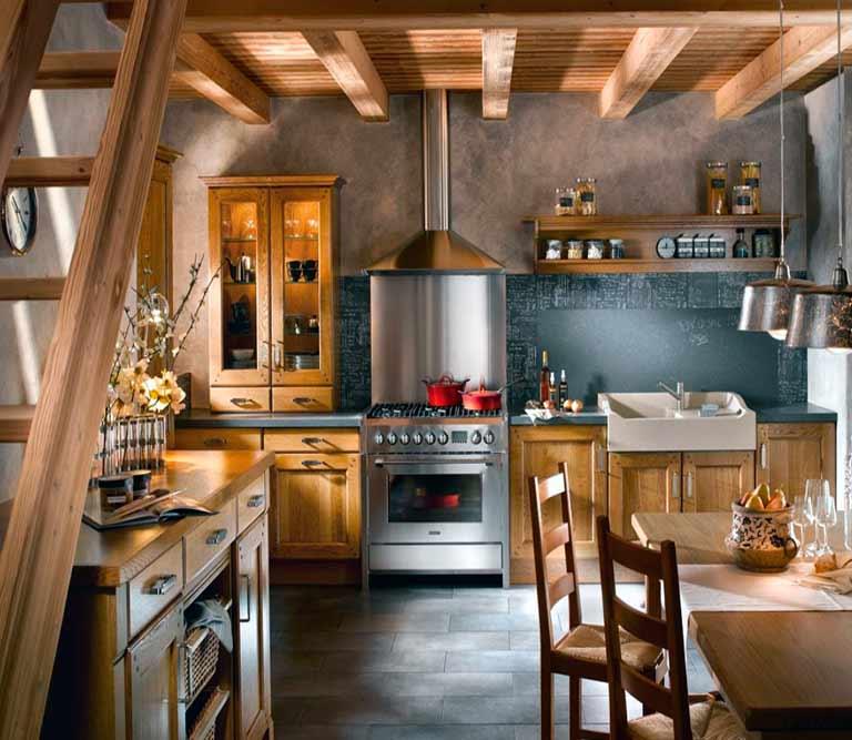 C mo decorar una cocina de forma r stica la mansi n de - Como decorar una cocina rustica ...