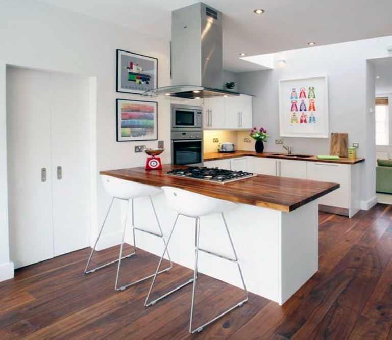 C mo decorar una cocina de forma r stica decoraci n - Mostradores de cocina ...