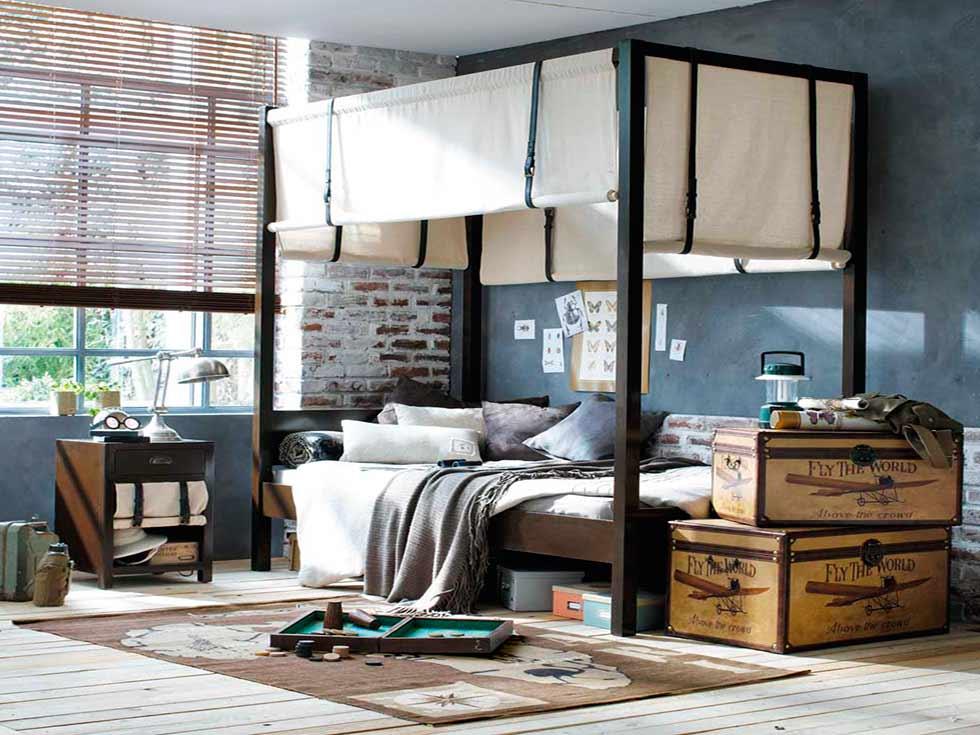 Decoraci n industrial para tu casa la mansi n de las ideas for Habitacion decoracion industrial