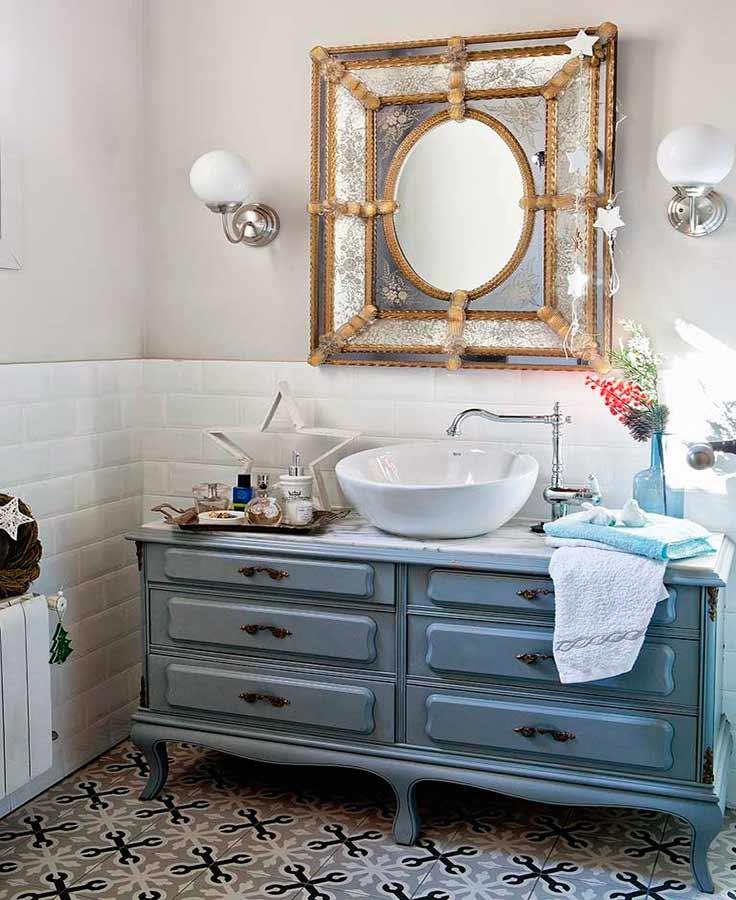C moda transformada en lavabo la mansi n de las ideas for Comoda mueble