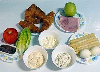 Rellenos salados para croissants