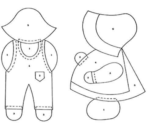 Patchwork Patrones Gratis Para Imprimir - Plantillas-patchwork-infantil