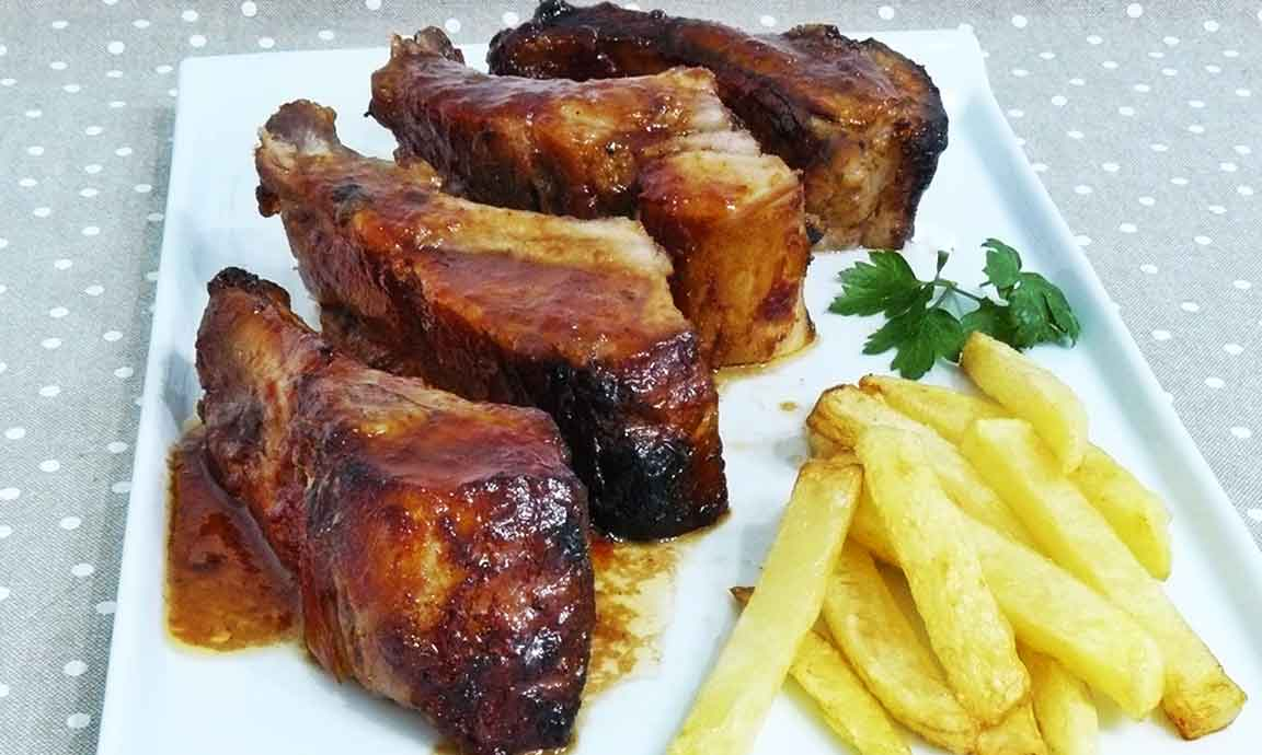 Costillas con coca cola