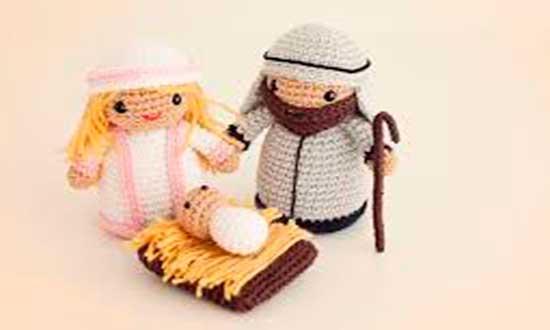 amigurumis-navidad-misterio-navidad nacimiento San Jose Niño Jesus Virgen Maria pesebre