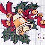 Gráficos de punto de cruz gratis para Navidad