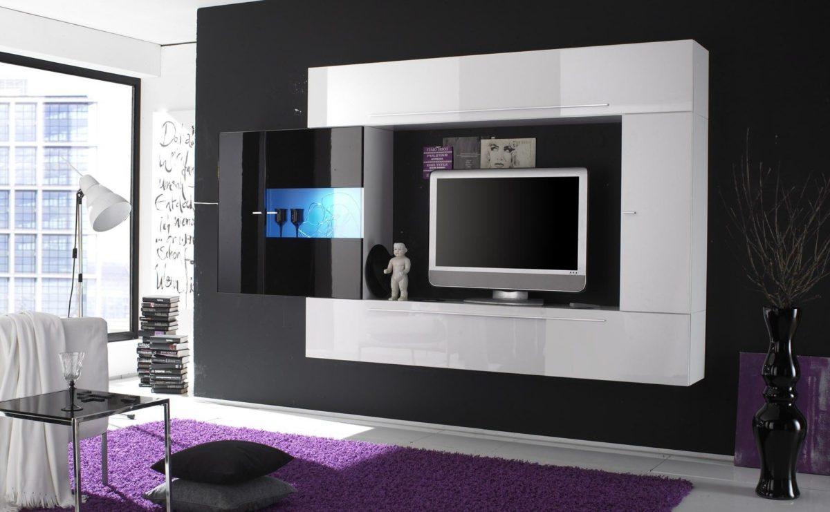 Muebles modernos de televisi n la mansi n de las ideas for Vetrinetta moderna