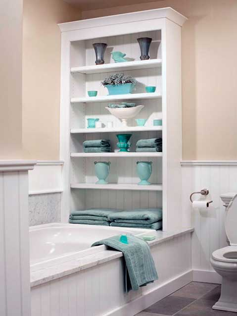 Accesorios para ba os la mansi n de las ideas for Estanteria bano toallas