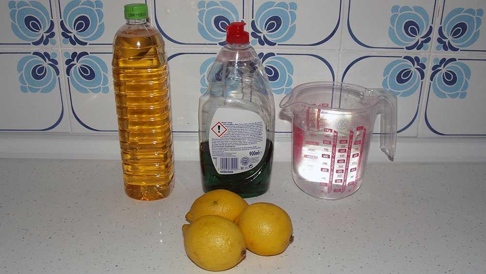 Jabón y abrillantador