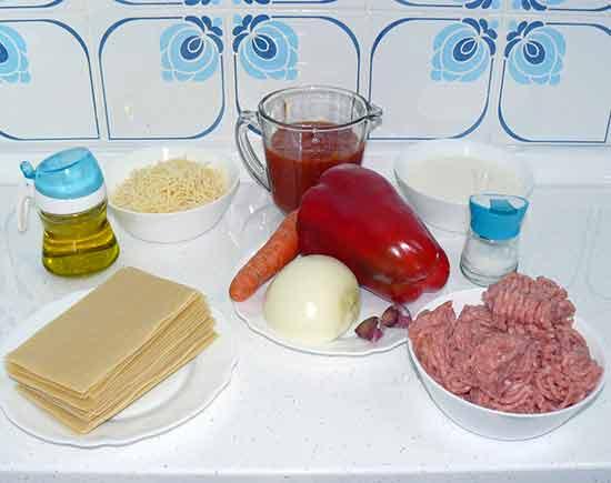 Lasaña de carne