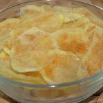 Patatas chips al microondas