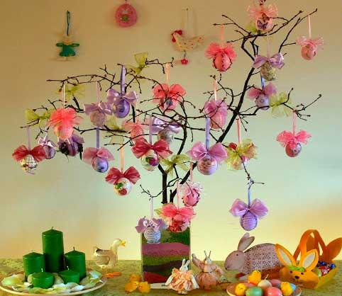 huevos-para-decorar,-centro-de-mesa-decorado-con-huevos-decorados