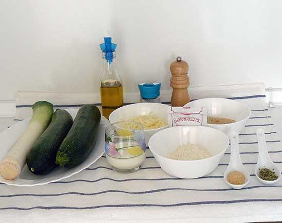 Hamburguesas de calabacín y queso