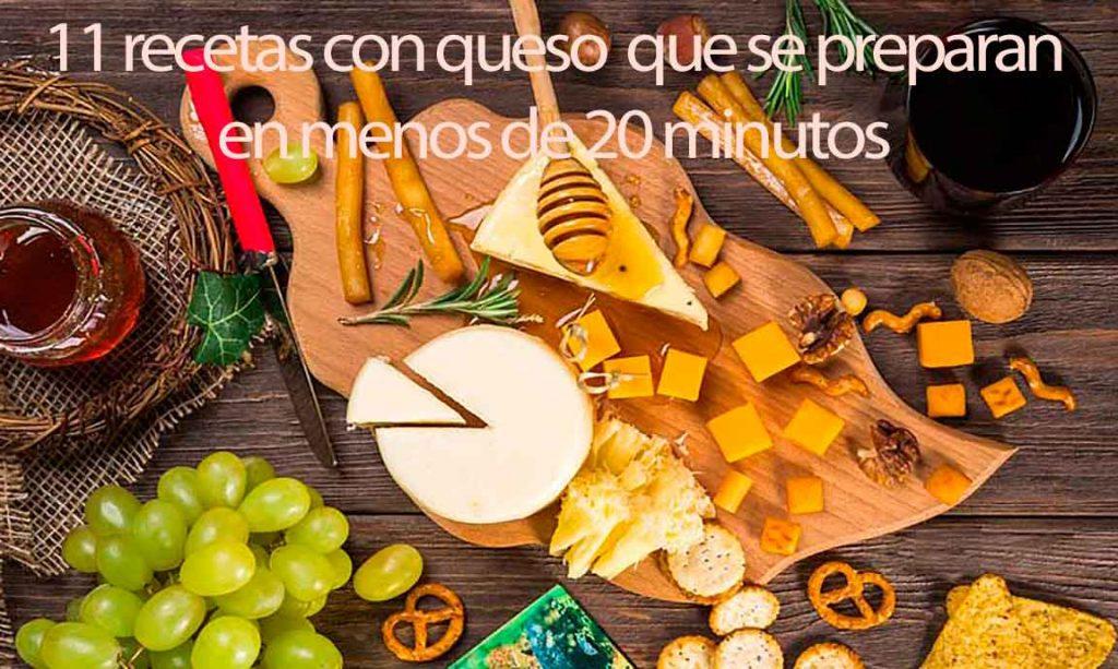 11 recetas con queso que se preparan en menos de 20 minutos