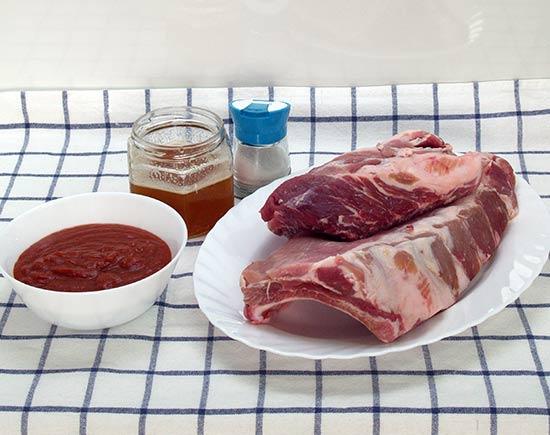 Costillas al horno con salsa barbacoa