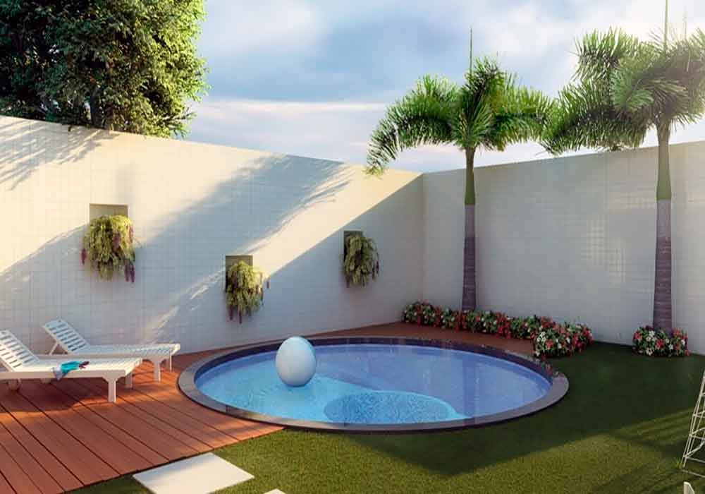 17 piscinas peque as para jardines minis la mansi n de for Piscinas en