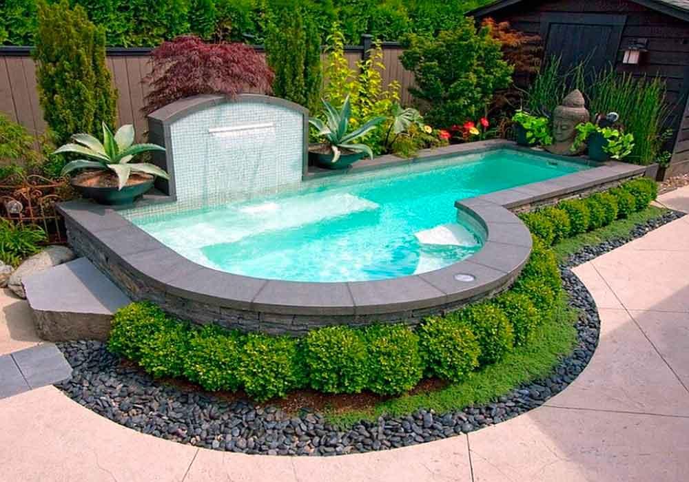 Piscinas para jardin cascada jardin piscinas para for Piscinas de jardin