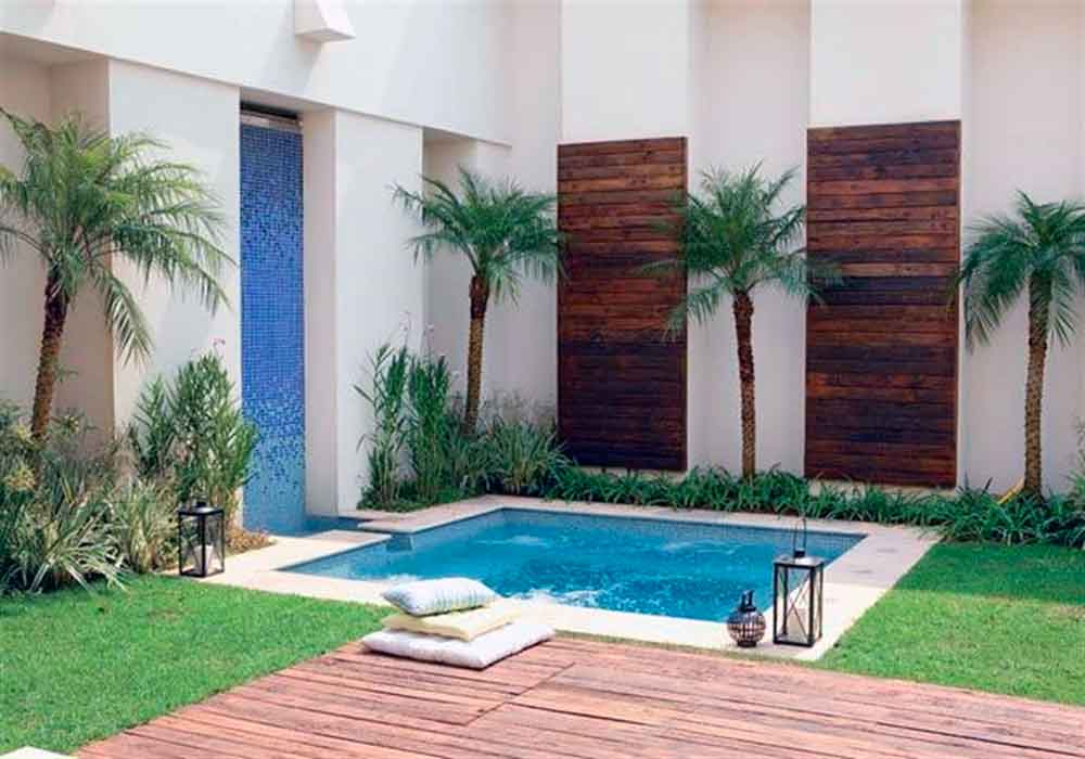 17 piscinas peque as para jardines minis la mansi n de for Piscina hinchable pequena