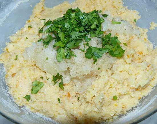 Hamburguesas de patata y cebolla