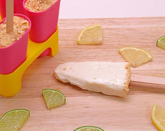 Polos cheesecake de lima limón
