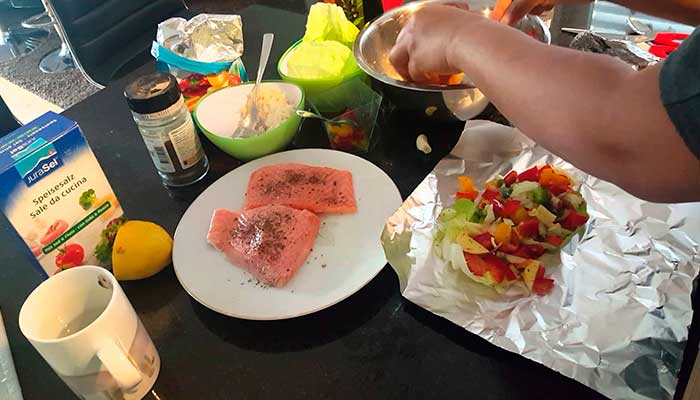 Life hacks, tips, limpiar, cocina, papilote-de-salmon