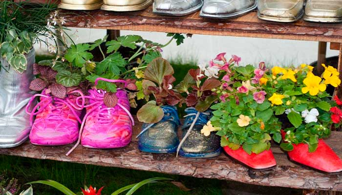 macetas,-reciclaje,-plantas,-zapatos-reciclados-varios-modelos