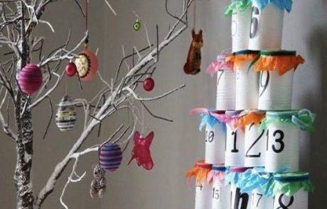 calendarios-de-adviento-hecho-de-botes-de-conserva-con-papel-seda-y-cinta-raso