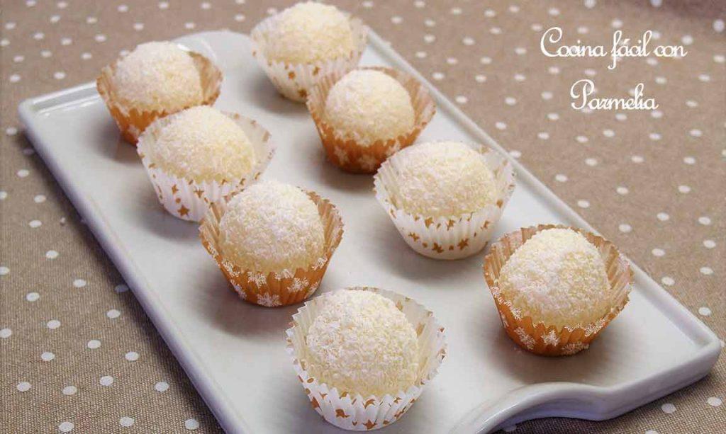Cómo hacer bolitas o trufas de coco