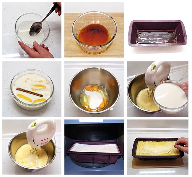 Flan de queso mascarpone