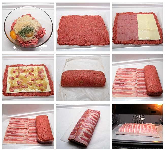 Rollo de carne relleno