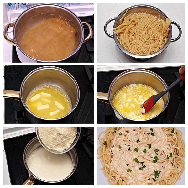 Cómo hacer pasta Alfredo