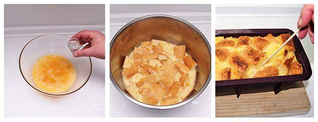 Pudin de pan con naranja