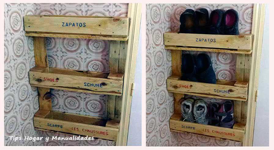C mo hacer un zapatero original con palets la mansi n de for Zapatero para exterior