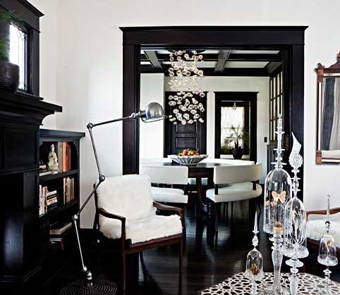 Decoración estilo en blanco y negro