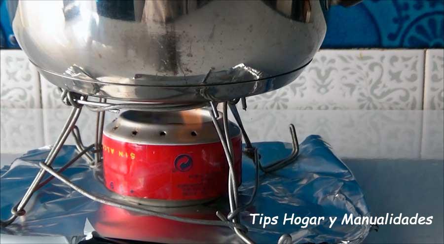 Cómo Hacer Un Infernillo Casero Cocina Sin Gas Ni Electricidad