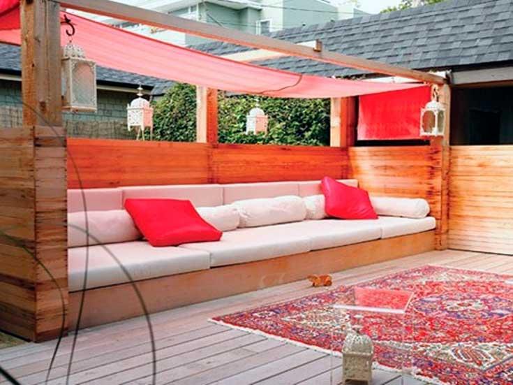 Muebles de palets para jardín