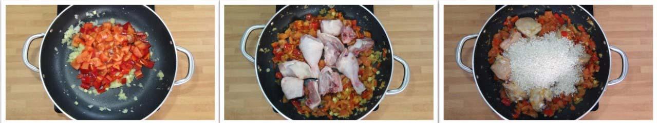 Arroz con pollo. Receta fácil y rápida