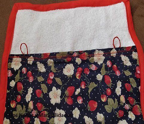 toalla de manos,-Haciendo-presillas,-presillas-terminadas