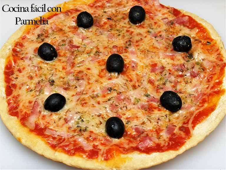Pizza sin horno a la sartén