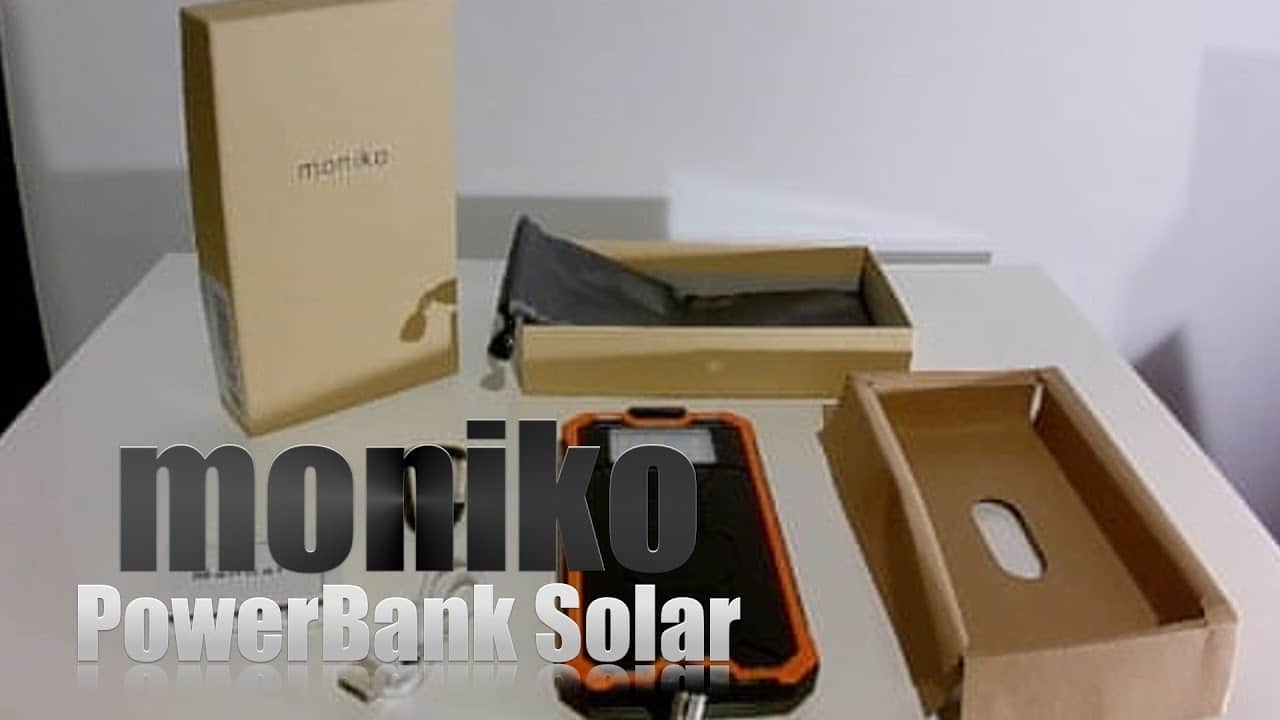 cargador portátil solar moniko 16000 mAh.