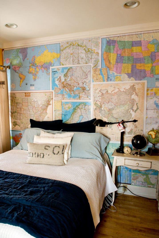 decoracion-con-mapas
