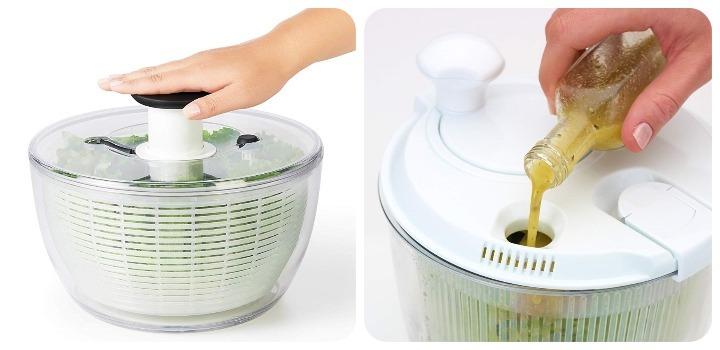 funcionamiento centrifugadora de ensaladas