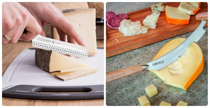 tipos de cuchillos para picar queso