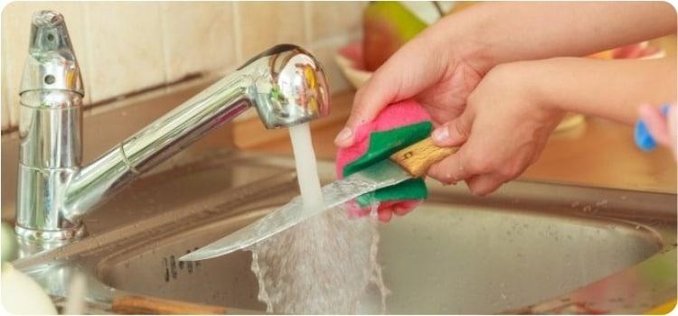 cuidar limpiar cuchillo muela