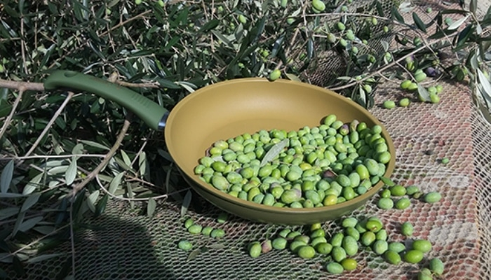 guisantes cocinados ensartén illa olivilla