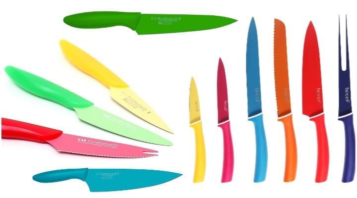 los mejores cuchillos de colores