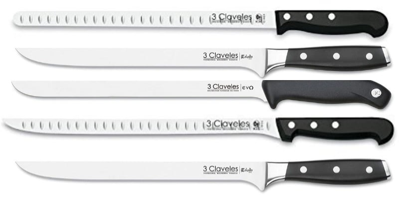 mejores cuchillos jamoneros 3 claveles