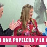 Presentadora de Telecinco orina en la papelera despues de quedarse encerrada