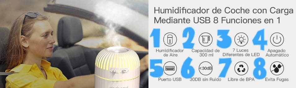 Las 8 ventajas de los humidificadores de coches
