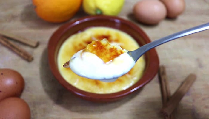 foto postre facil crema catalana casera
