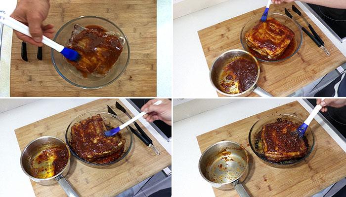 foto costillas de cerdo al horno con salsa barbacoa